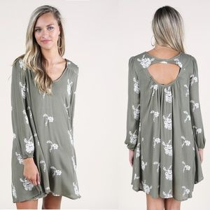Altar'd State Floral Embroidered Dress boho tunic